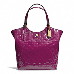 COACH PEYTON OP ART EMBOSSED PATENT TOTE - ONE COLOR - F25703