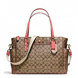COACH F25741 - PEYTON SIGNATURE MULTIFUNCTION TOTE ONE-COLOR