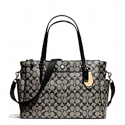 COACH PEYTON SIGNATURE MULTIFUNCTION TOTE - SILVER/BLACK/WHITE/BLACK - F25741