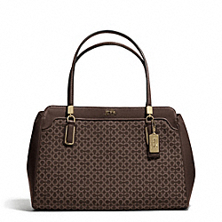 COACH MADISON OP ART NEEDLEPOINT KIMBERLY CARRYALL - ONE COLOR - F25781