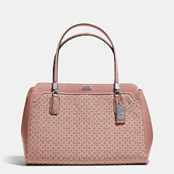 COACH MADISON KIMBERLY CARRYALL IN OP ART NEEDLEPOINT FABRIC - SILVER/TEAROSE 2 - F25781