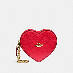 HEART COIN CASE - TRUE RED/IMITATION GOLD - COACH F25800