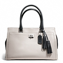 COACH CHELSEA TWO TONE LEATHER CARRYALL - ONE COLOR - F25805