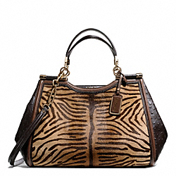 COACH MADISON PRINTED TIGER HAIRCALF CAROLINE SATCHEL - ONE COLOR - F25816