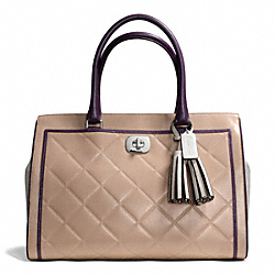COACH EMBOSSED QUILTED LEATHER LARGE CHELSEA CARRYALL - ONE COLOR - F25829