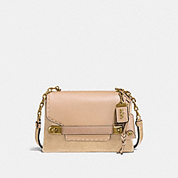 COACH SWAGGER CHAIN CROSSBODY IN COLORBLOCK - B4/BEECHWOOD - COACH F25833