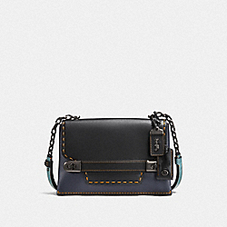 COACH SWAGGER CHAIN CROSSBODY IN COLORBLOCK - BP/NAVY BLACK - COACH F25833
