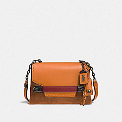 COACH SWAGGER CHAIN CROSSBODY IN COLORBLOCK - BP/GIFTING ORANGE - COACH F25833