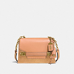 COACH SWAGGER CHAIN CROSSBODY IN COLORBLOCK - OL/APRICOT SAND - COACH F25833
