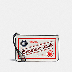 LARGE WRISTLET WITH CRACKER JACK® MOTIF - CHALK MULTI/SILVER - COACH F25867