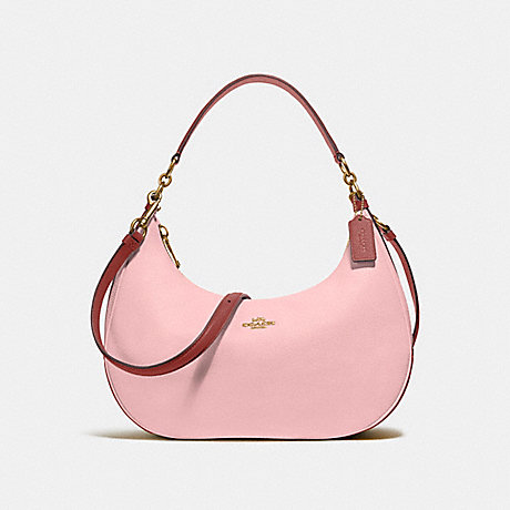 COACH f25896 EAST/WEST HARLEY HOBO IN COLORBLOCK BLUSH/TERRACOTTA/LIGHT GOLD