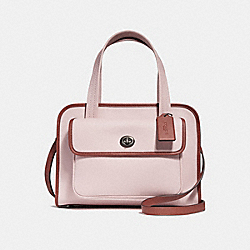 SAFARI TOTE - BLUSH/TERRACOTTA/BLACK ANTIQUE NICKEL - COACH F25900