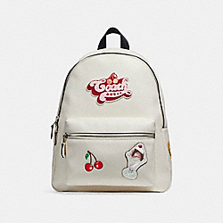 CHARLIE BACKPACK WITH AMERICAN DREAMING MOTIF - CHALK MULTI/SILVER - COACH F25910
