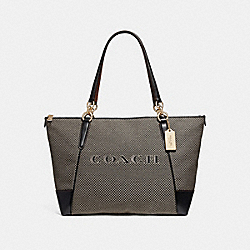 AVA TOTE - MILK/BLACK/LIGHT GOLD - COACH F25913