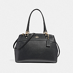 LARGE BROOKE CARRYALL - BLACK/LIGHT GOLD - COACH F25926
