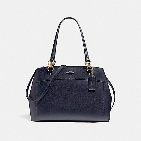 COACH f25926 LARGE BROOKE CARRYALL LIGHT GOLD/MIDNIGHT