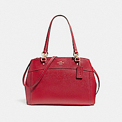COACH LARGE BROOKE CARRYALL - LIGHT GOLD/DARK RED - F25926