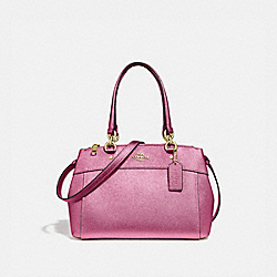 MINI BROOKE CARRYALL - METALLIC ANTIQUE BLUSH/LIGHT GOLD - COACH F25928