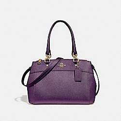 MINI BROOKE CARRYALL - METALLIC RASPBERRY/LIGHT GOLD - COACH F25928