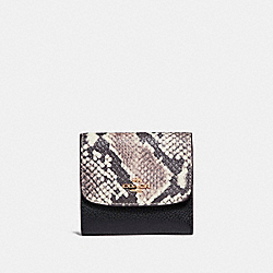 SMALL WALLET - LIGHT GOLD/BLACK MULTI - COACH F25938