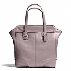 TAYLOR LEATHER NORTH/SOUTH TOTE - f25941 - SILVER/PUTTY
