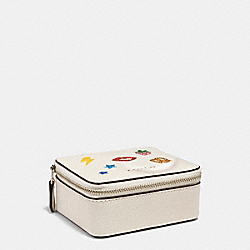 JEWELRY BOX WITH ALLOVER MOTIFS - CHALK MULTI/SILVER - COACH F25942