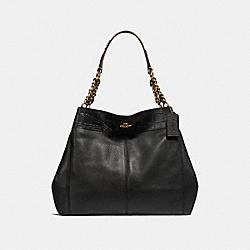 LEXY CHAIN SHOULDER BAG - LIGHT GOLD/BLACK MULTI - COACH F25944