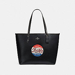 COACH CITY TOTE WITH CAMPBELL'S® MOTIF - SILVER/BLACK/SADDLE - F25948
