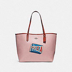 CITY TOTE WITH CAMPBELL'S® MOTIF - BLUSH/TERRACOTTA/SILVER - COACH F25948