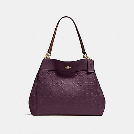 COACH LEXY SHOULDER BAG IN SIGNATURE LEATHER - OXBLOOD 1/LIGHT GOLD - F25954
