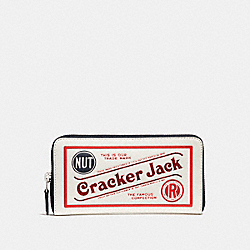 ACCORDION ZIP WALLET WITH CRACKER JACK® MOTIF - CHALK MULTI/SILVER - COACH F25959