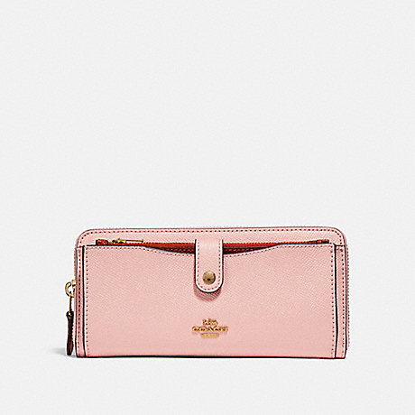 COACH MULTIFUNCTION WALLET IN COLORBLOCK - BLUSH/TERRACOTTA/LIGHT GOLD - f25967