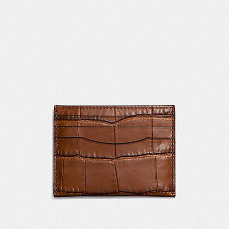 COACH CARD CASE - SADDLE - F26008