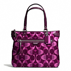 COACH DAISY DREAM C PRINT EMMA TOTE - SILVER/BERRY MULTICOLOR - F26021