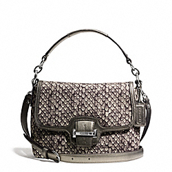 COACH TAYLOR SNAKE PRINT FLAP CROSSBODY - ONE COLOR - F26036