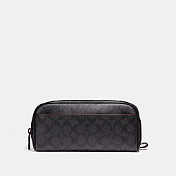 TRAVEL KIT IN SIGNATURE CANVAS - BLACK/BLACK/OXBLOOD - COACH F26073