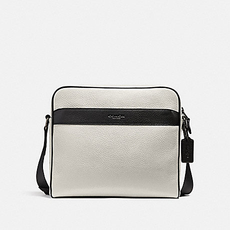 COACH CHARLES CAMERA BAG IN COLORBLOCK - CHALK/BLACK/BLACK ANTIQUE NICKEL - f26077