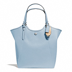 COACH PEYTON LEATHER TOTE - SILVER/SKY - F26103