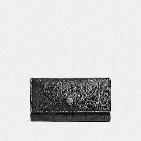 COACH FOUR RING KEY CASE - CHARCOAL/BLACK - f26104