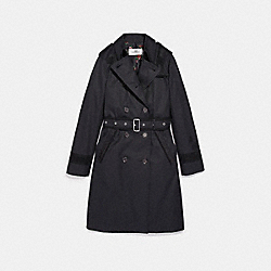 COACH LACE TRENCH - BLACK - F26112