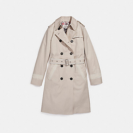 COACH LACE TRENCH - PORCELAIN - f26112