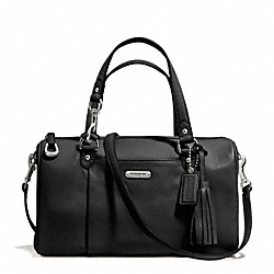COACH AVERY LEATHER SATCHEL - SILVER/BLACK - F26121