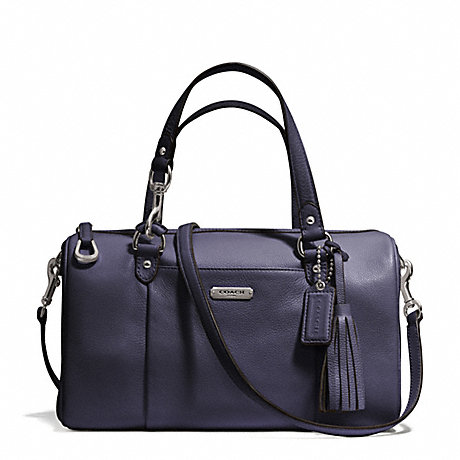 COACH f26121 AVERY LEATHER SATCHEL SILVER/SLATE