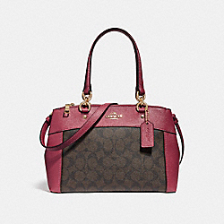 COACH MINI BROOKE CARRYALL - LIGHT GOLD/BROWN ROUGE - F26139