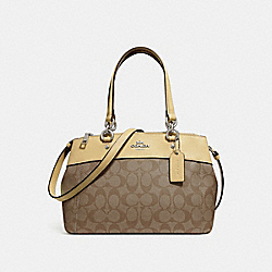 MINI BROOKE CARRYALL IN SIGNATURE CANVAS - KHAKI/VANILLA/SILVER - COACH F26139