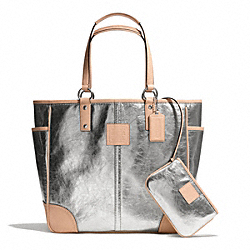 COACH METALLIC TOTE - ONE COLOR - F26141