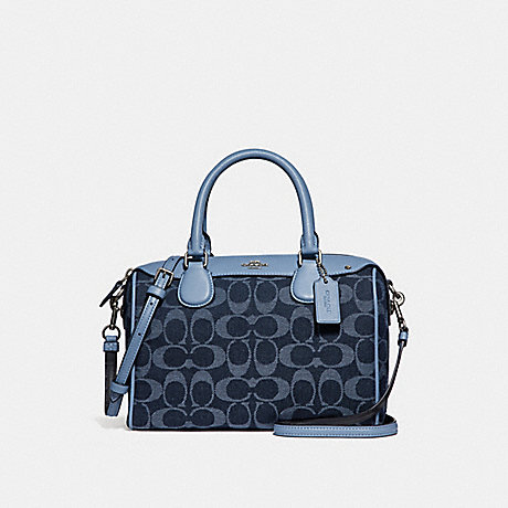 COACH MINI BENNETT SATCHEL IN SIGNATURE DENIM - DENIM/SILVER - F26164