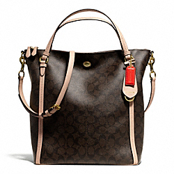 COACH PEYTON SIGNATURE CONVERTIBLE SHOULDER BAG - ONE COLOR - F26183