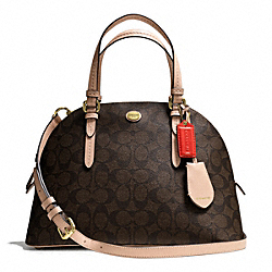 COACH PEYTON SIGNATURE CORA DOMED SATCHEL - ONE COLOR - F26184