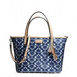 COACH PARK METRO DREAM C SMALL TOTE - SILVER/DENIM/TAN - F26201